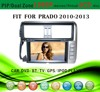 car gps with sirf star v fit for Toyota Prado 2010 - 2013 with radio bluetooth gps tv pip dual zone