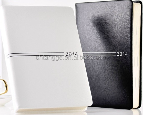 2014 hardcover thick leather diary