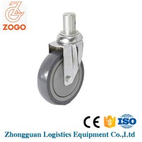 5 Inch precision stem swivel caster for ambulance stretcher polyurethane castor wheel