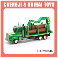 Best products kid Friction power cartoon plastic toy logging trucks