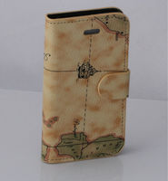 2013 hot factory selling cheap leather case map design case for apple phone iphone4s