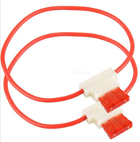 1015 12awg red 63A plastic inline fuse link with cap NGD709A 300MM