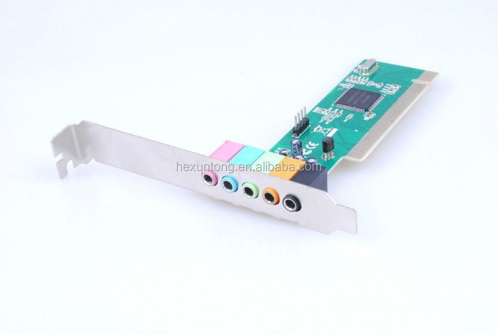 CMI8738 Cmedia 5 Channel 5.1 Surround Sound PCI Sound Card SUPPORT win 7 & 8