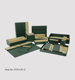 Hotel leather bathroom accessories set supply
