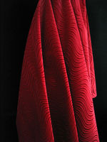 "58/60"" Soft Silky SWIRL FLOCK VELVET Fabric ALL COLORS Sewing Fabrics 90% Polyester 10% Spandex"