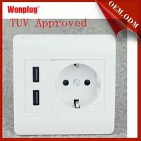 TUV approved Wonplug the newest 5V/2.1A usb wall outlet dimensions