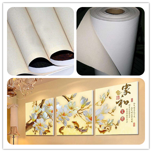 Printed blank Inkjet Polyester Art canvas (Pigment/Solvent/Latex) in roll