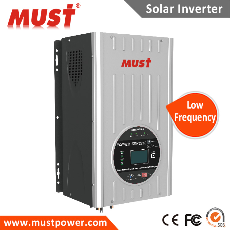 Deep cycle battery hybrid solar power inverter 3kw 3000W 12v dc 24v 48v DC for pumps generators home government