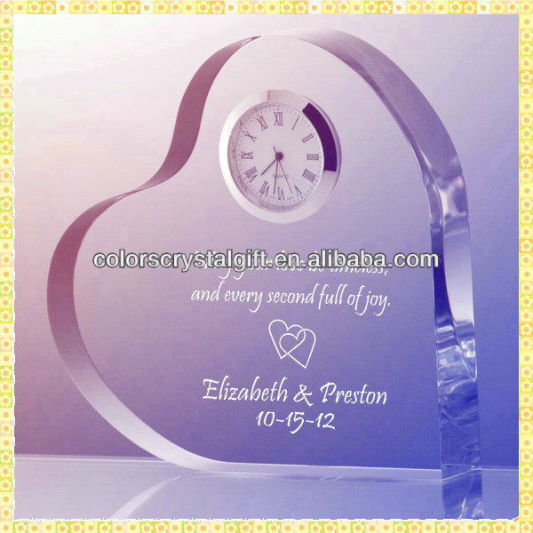 Personalized Engraved Crystal Clock Wedding Favors For Guest Giveaway Souvenirs