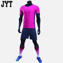 Top quality 100% polyester custom aduit t shirt blue soccer team training american football uniforms wholesale