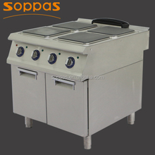 90cm industrial large hotplate electric cooking range with cupboard