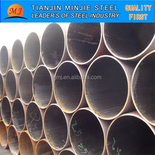 Tianjin factory MS ERW black round steel tube price /welded steel pipe/mild steel pipe Q195 A53 SS400 ISO