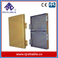 Yellow Solid Aluminum Panel Interior Exterior Wall Panels with Fireproof Insulation PVDF Coating