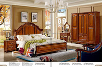 American vintage style plywood couple Bedroom set