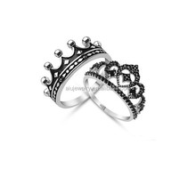 925 silver king and queen engagement and wedding ring