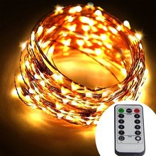 Remote and Timer Battery Operated 66 ft 200 LED Copper Wire String Lights 8 Modes Dimmable Micro LED Starry String Light