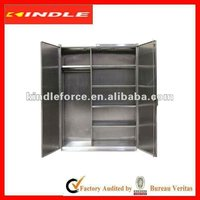 stainless steel corner cupboard with fixed or adjustable shelves