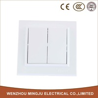 China Top Ten Selling Products White Two Gang One Way Switch