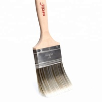 Purdy style flat sash paint brush for white nylon and polyester with chisel trim
