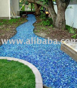GLASS GARDEN MULCH / RECYCLED GLASS LANDSCAPE MULCH