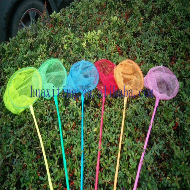 Bamboo handle kids fishing net