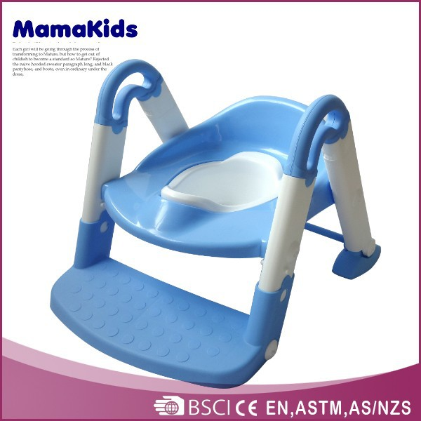 The most popular functional kids potty training seat steps 2014 plastic baby toilet with ladder