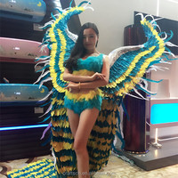wholesale custom big angel wings made of natural feathers