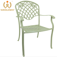 WF-1056C1 wholesale patio furniture cast aluminum dining chair import from China
