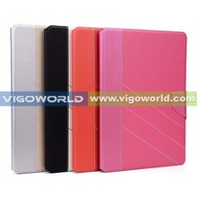 2014 NEW premium leather book folio for iPad Air 2 case cover with stand work and magnetic closure