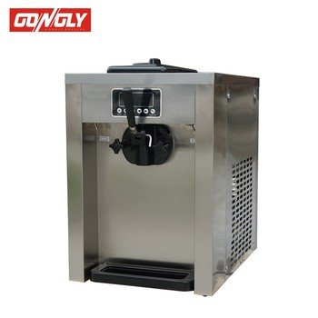 Counter model 220V 50Hz/60Hz bigger main compressor single phase ripple soft ice cream machine