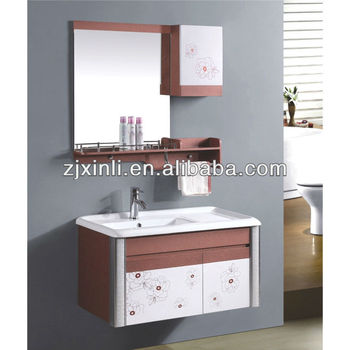 X6687 Ceramic Bowl Solid Wood Bathroom Cabinet