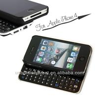 High quality Slide-out Wireless Bluetooth keyboard case for iphone4/4s/4g, mini wireless bluetooth keyboard for iphone 4