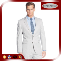 European Sale Top Brand Two-button Closure Light Grey Men Suit