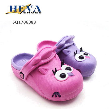 Little kids Owl mould Cute Animal shoes Two Tone garden clogs