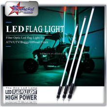 2feet 4feet 5feet 6feet LED Flag Whip For ATV UTV Buggy Single Color LED Fiber Optic Whip Light