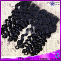 FBS wholesale 4*4 Brazilian hair lace front closure free part three part brazilian hair closure