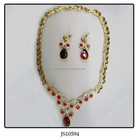 Necklace And Earring Indian 18k Gold Plated Jewelry Set