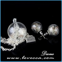 Open glass bal lmaking jewelry decoration half glass ball