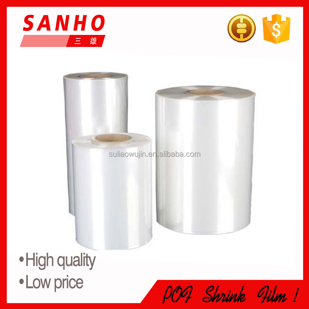 pof shrink film in rolls , center folded pof shrink film in rolls