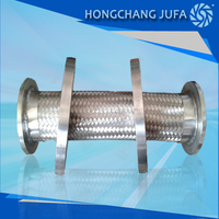 flexible metal gas connection steel bradied hose flex pipe with flange