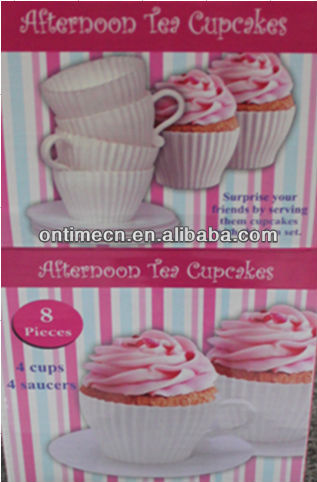 8PC Afternoon tea cupcakes