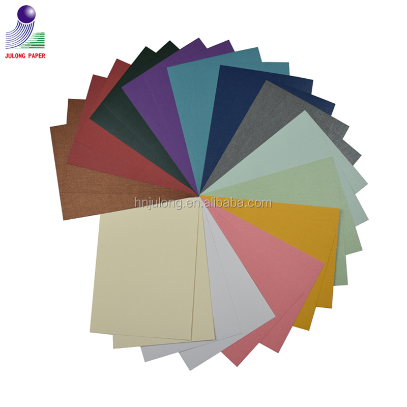 A4 Size Offset Printing Pearl Paper with Linen Colorful Pearl Paper Embossing for Handicraft and Gift Wrapping