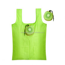 Heavy duty Polyester polyester foldable shopping bag with fruit shape pouch