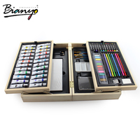 OEM high quality art set 70pcs wooden box painting set for artist