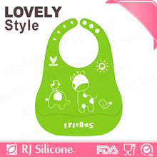 RJSILICONE bib hanger silicone bibs for babies silicone baby bib