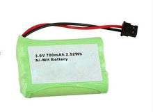 Rechargeable ni-mh 3.6v 2/3aa 600mah battery for toys and meters