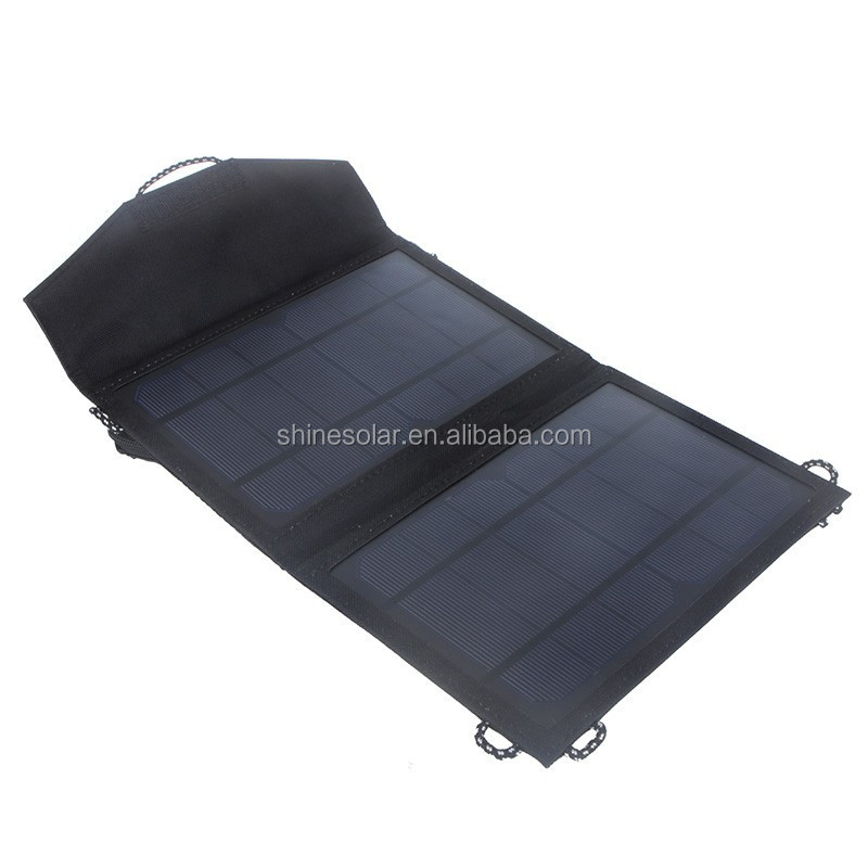 Portable travel smart charger waterproof solar panel for mobil phone and light
