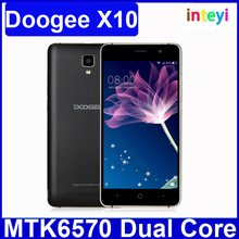 Original Doogee X10 3G Smartphone Android 6.0 MTK6570 Dual Core Cell phone RAM 512M ROM 8GB 5MP 3360mAh 5.0 inch Mobile phone