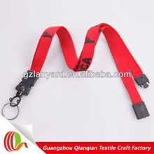 Newest design custom reusable hollow lanyard with safety buckle
