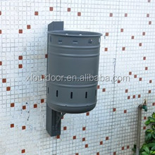 Outdoor wall mounted waste recycling bin